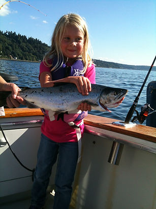 family fishing excursion Puget Sound