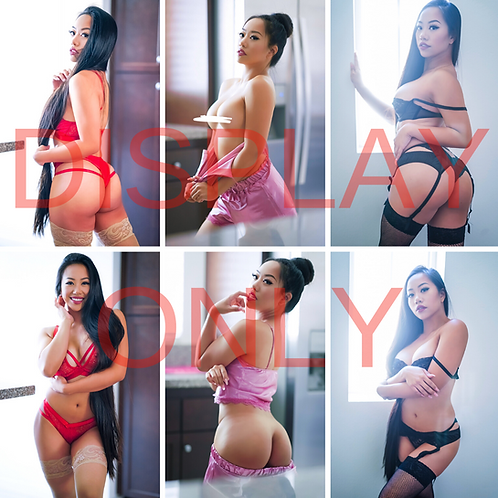 Red, Pink, Black Boudoir (6 Images) - 1 Uncensored