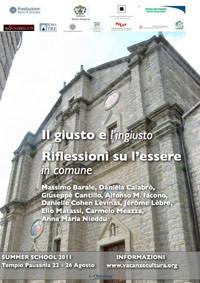 2011 - Summer school - ll Giusto e l'ingiusto