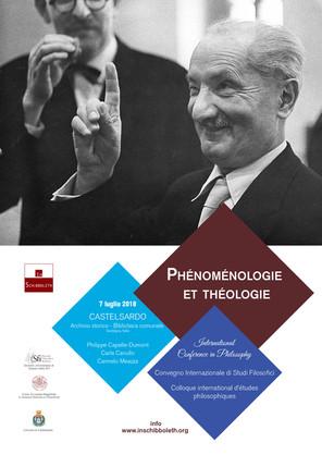 Convegno Fenomenologia e teologia - 2018