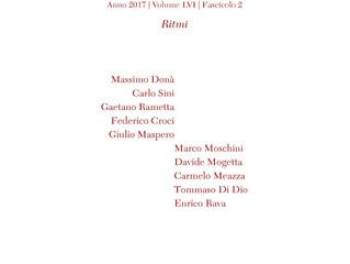 Call for papers n. LVIII/1 - Luoghi del sapere: teatro e conoscenza