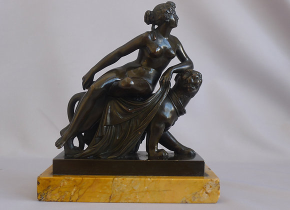 Antique Grand Tour bronze of Ariadne on a Panther