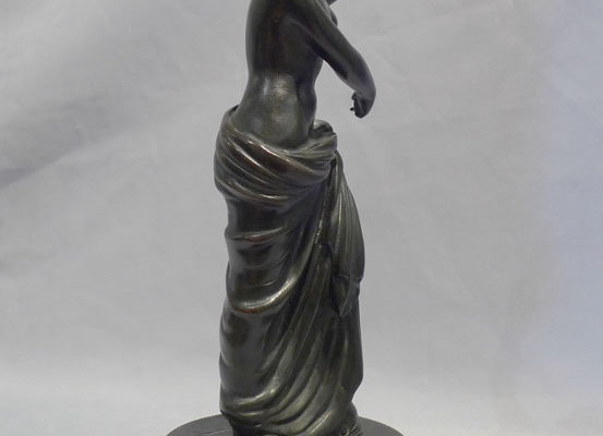 Grand Tour antique bronze of a woman, probably Naples