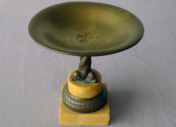 Antique Italian Grand Tour Sienna marble and bronze Tazza