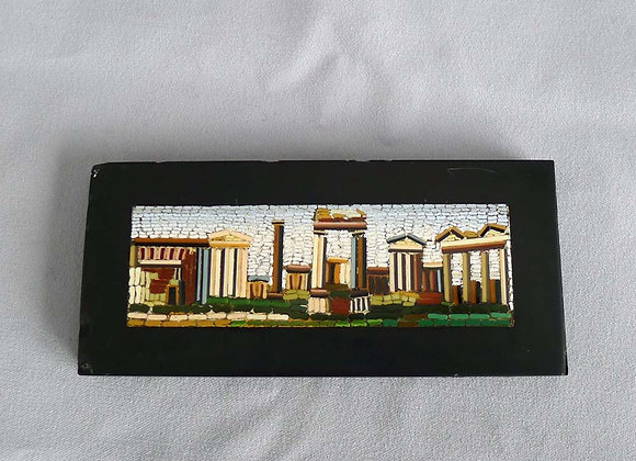 Antique Italian Grand Tour micromosaic of Roman Ruins
