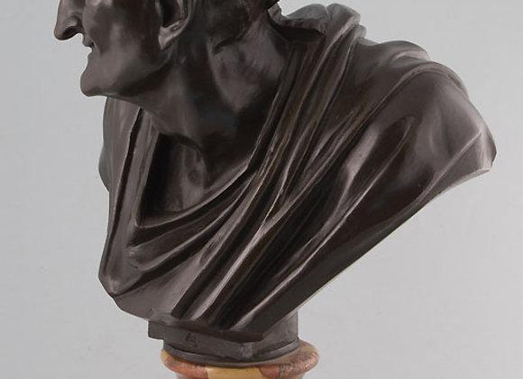 Grand Tour antique bronze busts of classical politicians.