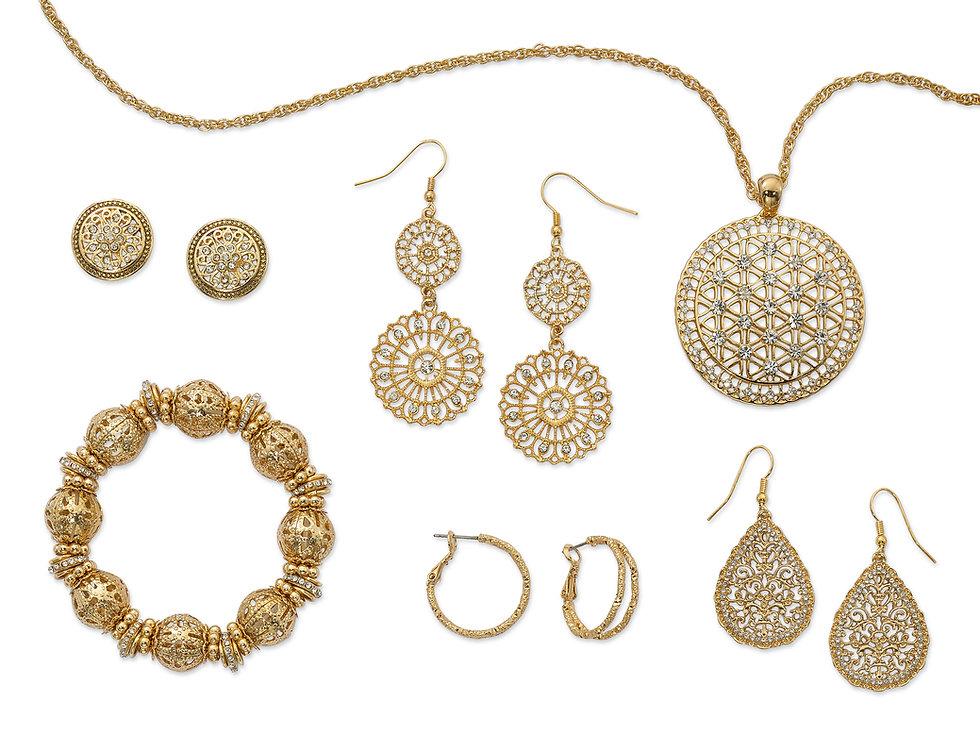 dancraft fashion jewely, danecraft costume jewelry, gold costume jewelry, gold fashion jewely, filigree jewelry, filigree fashion jewelry