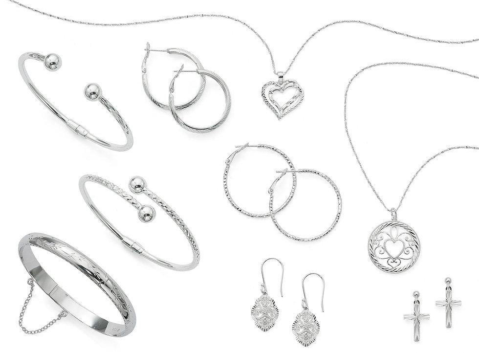 sterling silver, madein italy, sterling silver jewelry, danecraft jewelry, fine jewelry, diamond cut jewelry, italian jewelry