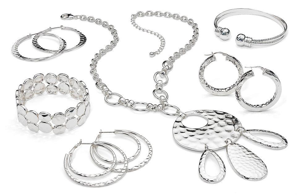 danecaft costume jewely, hammered jewelry, silver fashion jewely, silver jewelry, silver costume jewelry, metal jewelry