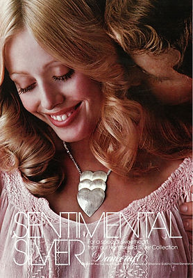 jewelry vintage advertisement, sentimental silver, danecraft, 1970's advertisement