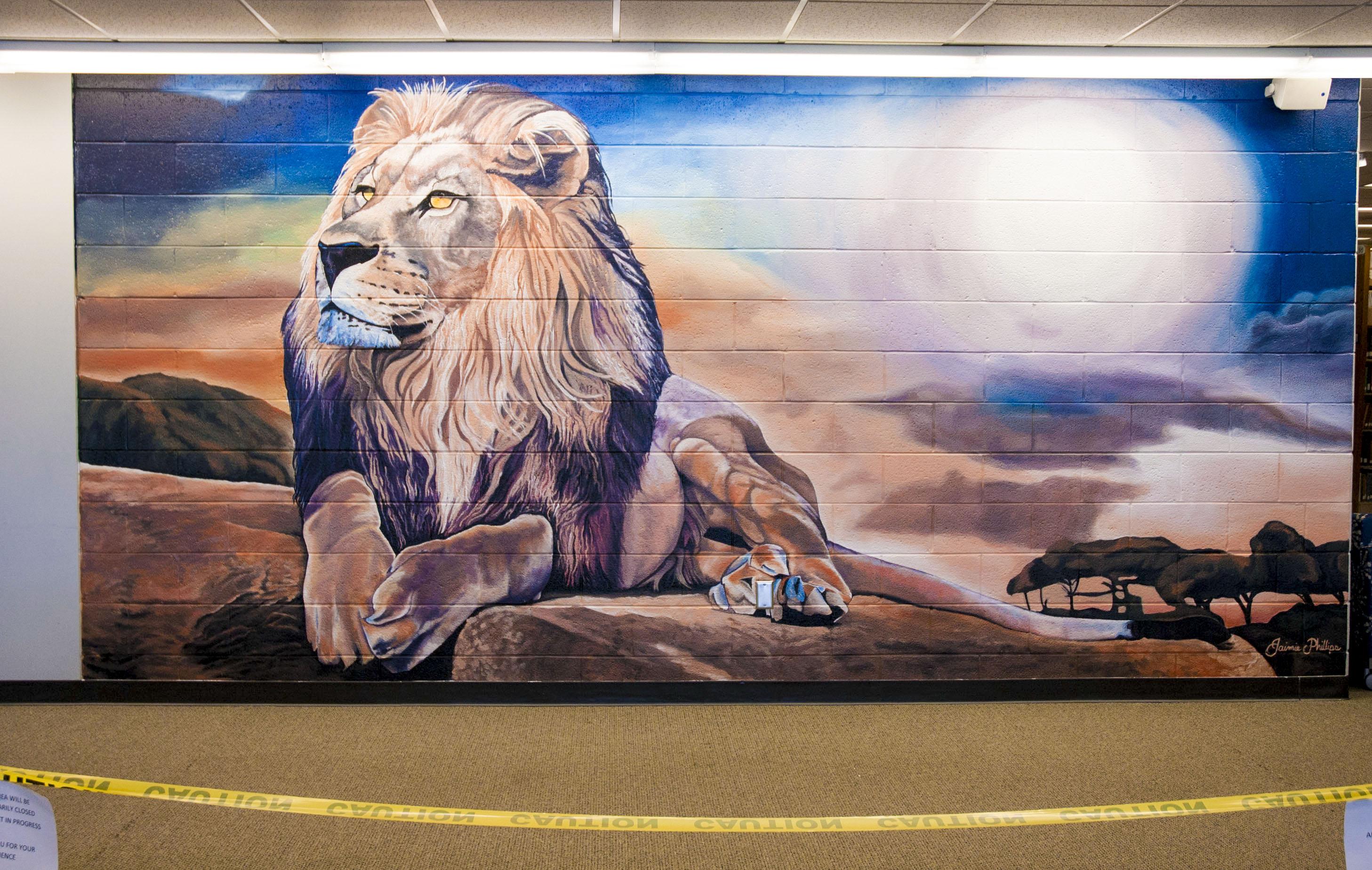 ODU Lion Mural