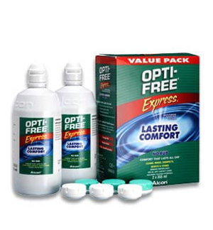 OPTI-FREE® Express® MULTI-PURPOSE CONTACT LENS SOLUTION | Value Pack