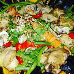 Paella valenciana ___#paella_#food#foodl