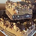 Hazelnut, coffee, caramel slice x 4