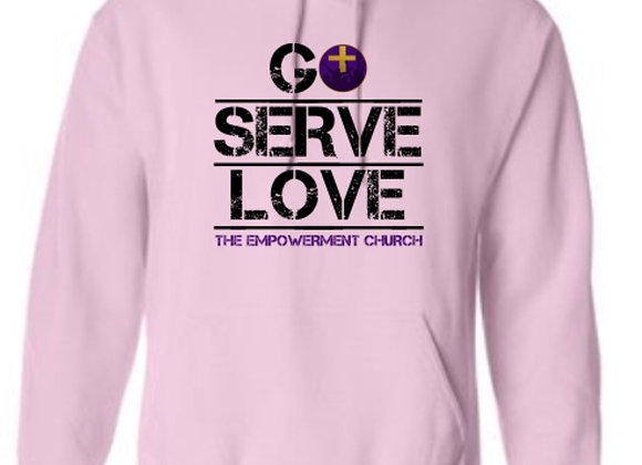 Go-Serve-Love Custom Hoodie Pullover