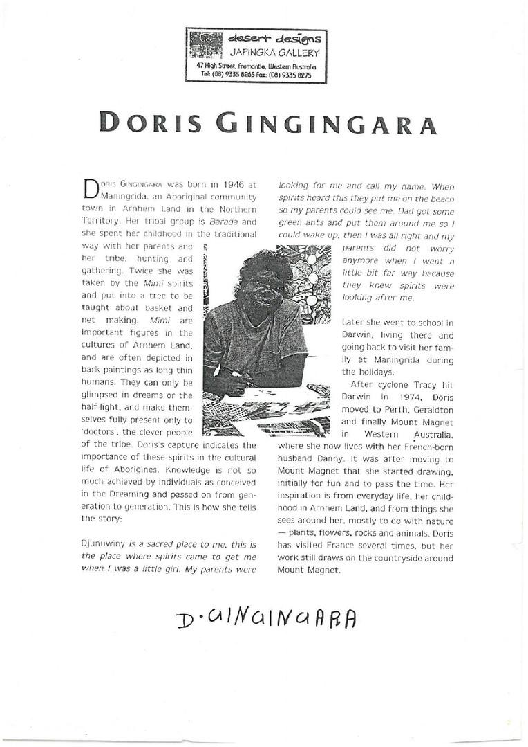 GINGINGARRA Doris_ManingridaartistRIP-pa