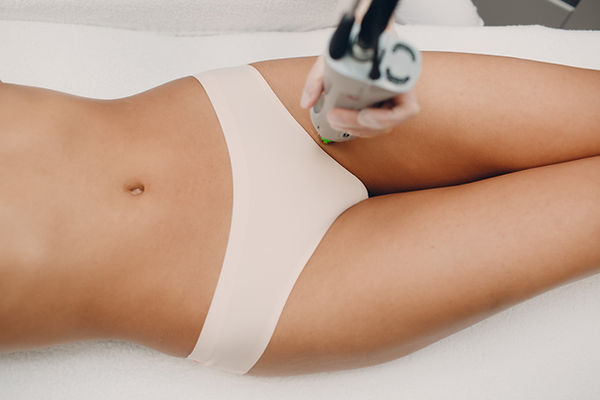 Bikini Laser epilation and cosmetology.