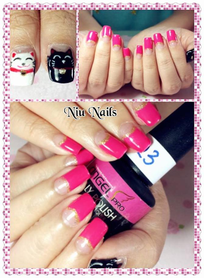 Maneki Neko Nails by Niu Nails