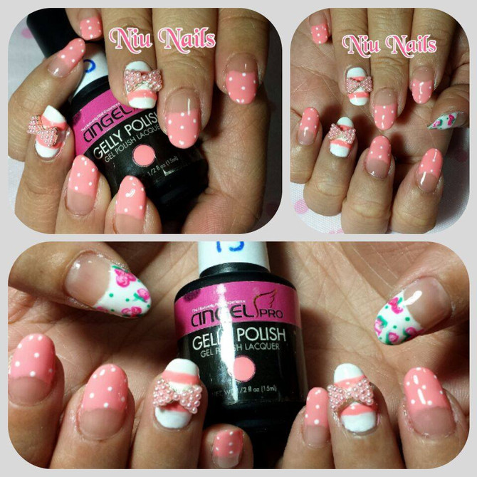 Blogger Zerika's Nails  - Pretty in pink Gelish Manicure and Nail Arts
