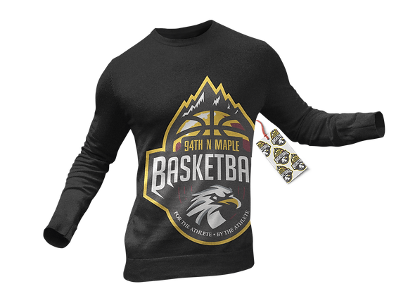94th N Maple Basketball Long-Sleeve T-Shirt