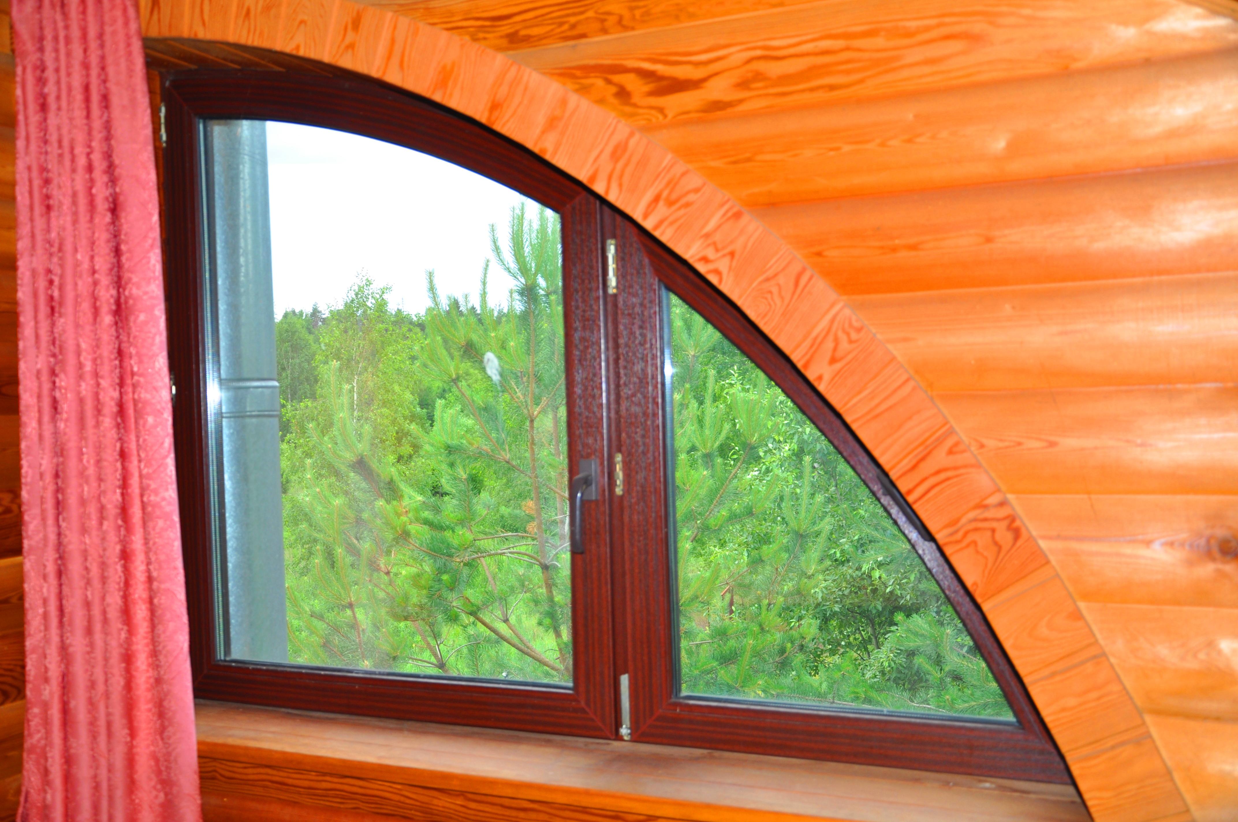 Баня вид из окна 2 этаж гостиная