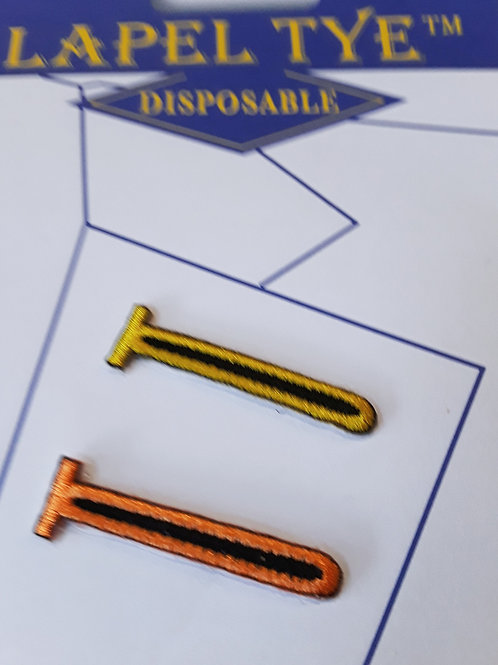 2-Pack PressOn (Disposable) Stitch - Fabric Yellow/Orange