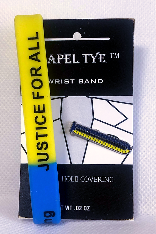 Justice for all Lapel Tye with Wristband