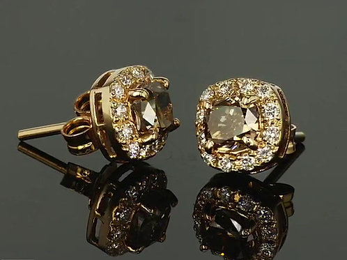 Outlet yellow gold autumn earrings