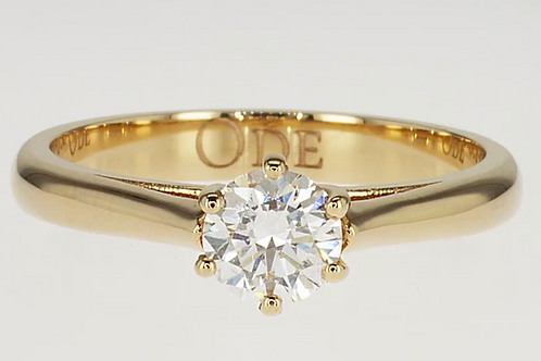 Outlet yellow gold classic round ring