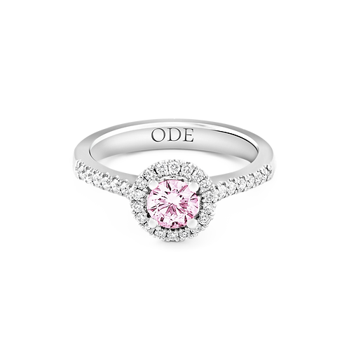 Halo pink and diamonds