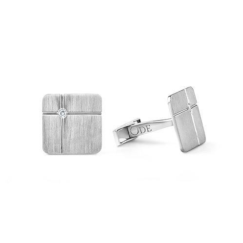 Cufflink diamond square