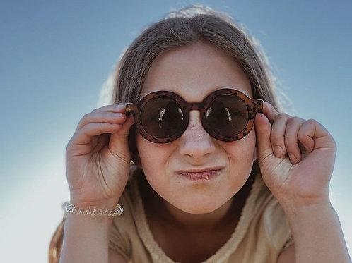 Bebe Round Sunglasses (leopard)
