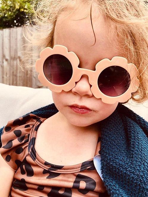 Coral Sunflower Sunglasses
