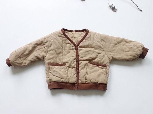 Beige Quilted Coat