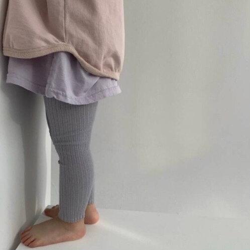 Lilou Ribbed Band Leggings (lilac)