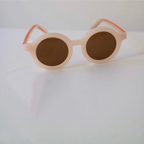 Bebe Round Sunglasses (peach)