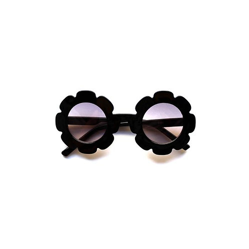 Black and Silver Sunflower Sunglasses