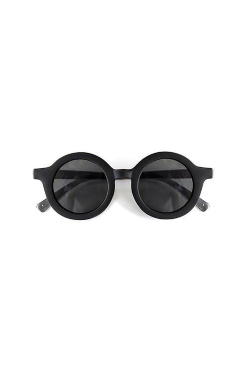 Bebe Round Sunglasses (black)