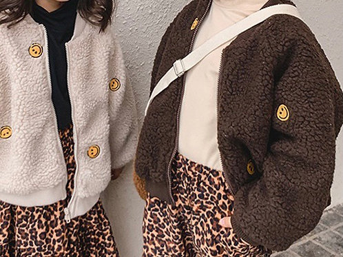 Smiley face Jacket (brown)