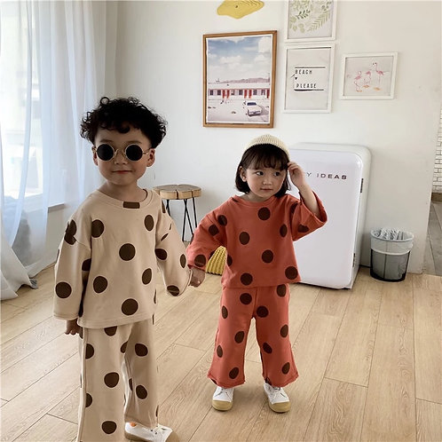 Unisex Dotty Two Piece Lounge Set