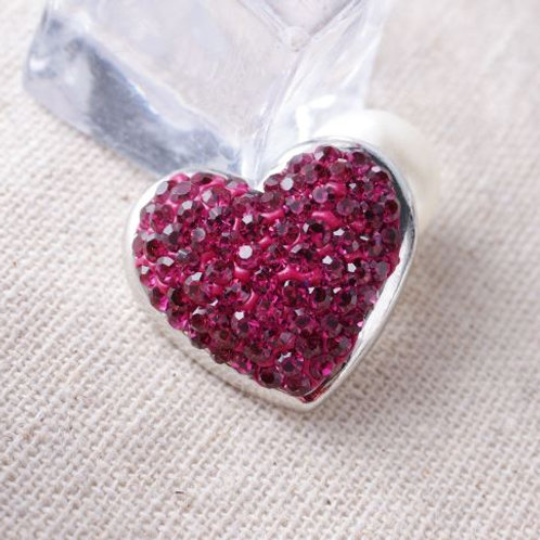 Crystal Heart Button