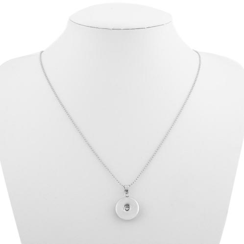 Plain Button Necklace