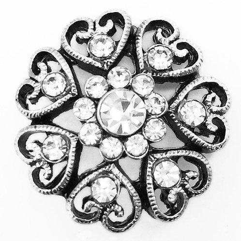 Crystal Filigree Button