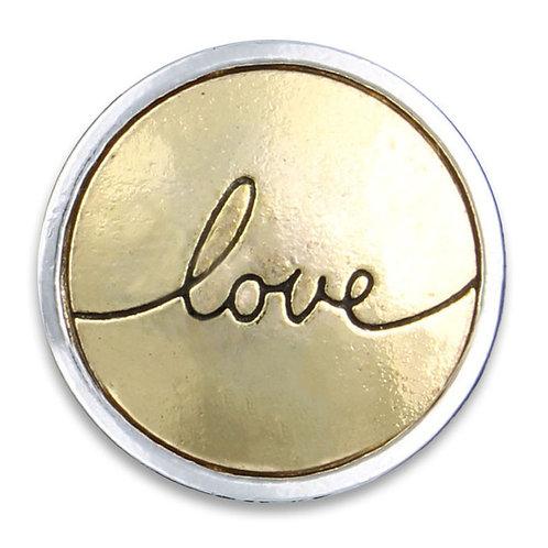 Gold Love Button