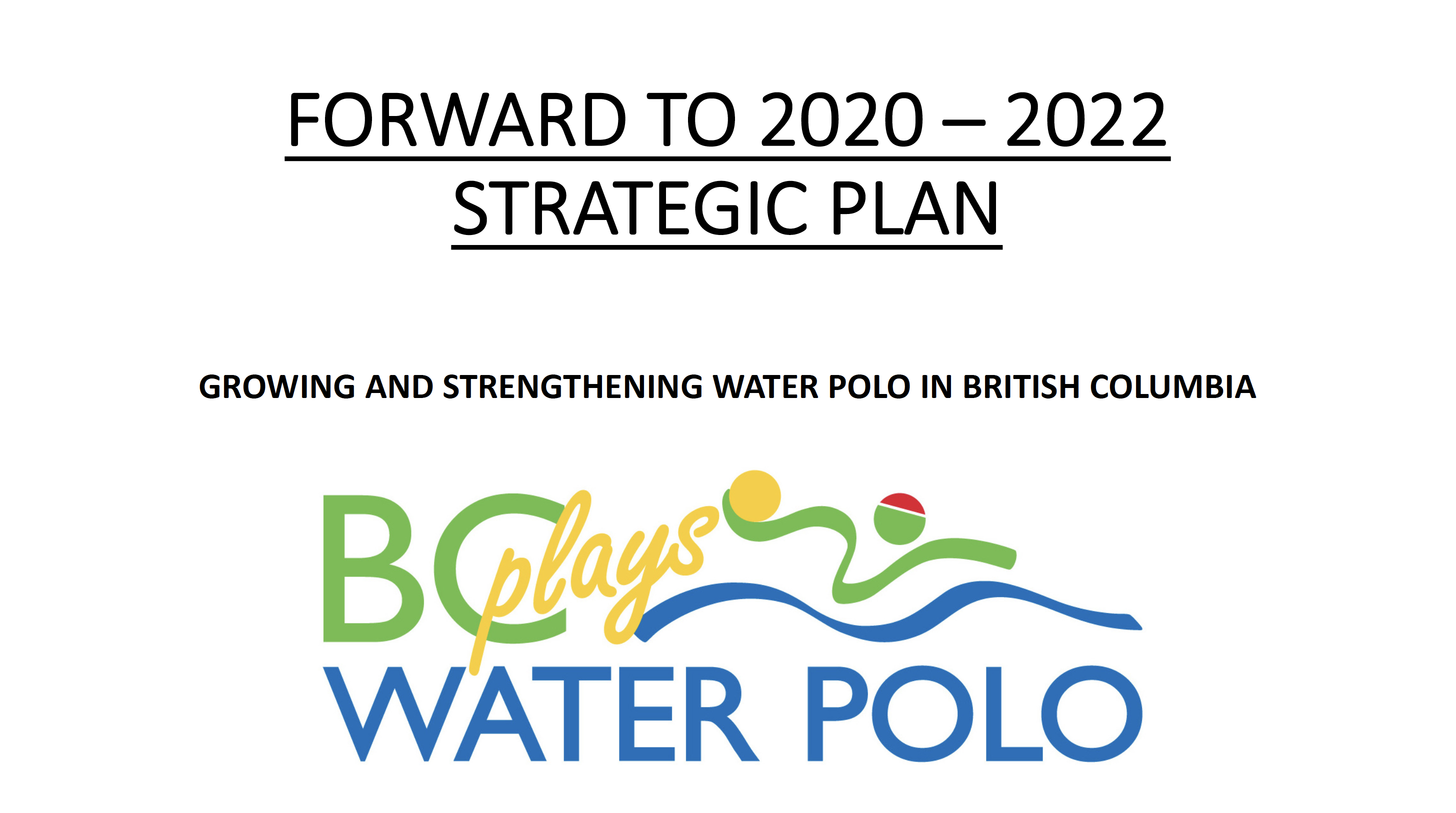 Forward to 2020-2022 Strategic Plan
