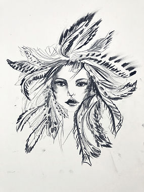 Feathered hairband design