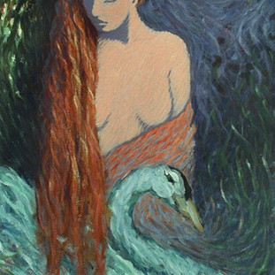 Lady with a Swan