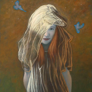 Girl with Doves