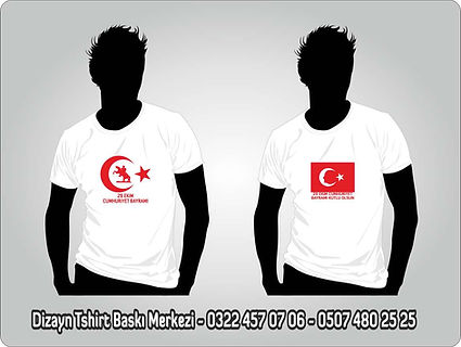 türk bayraklı tshirt baskı
