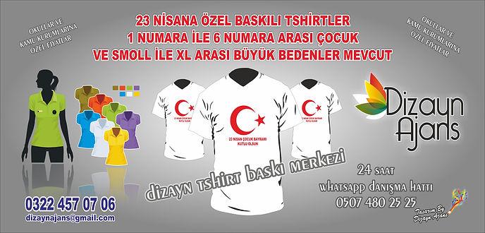 23 nisan tshirt baskı 2017